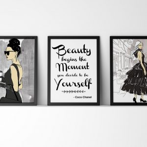 Fashion Illustration wall art decor